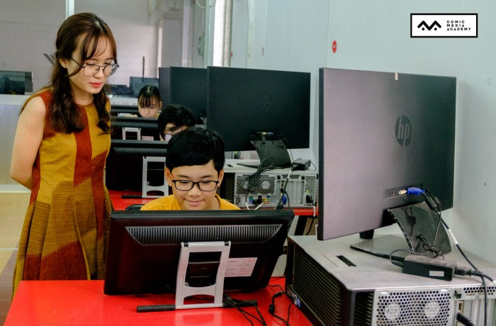 [Hình ảnh] Khai giảng lớp vẽ truyện tranh trên máy tính Khoá 02