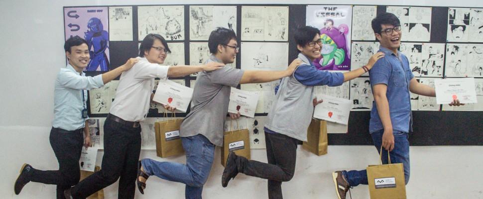 Học viên nói gì khi kết thúc lớp vẽ truyện tranh cấp tốc ?
