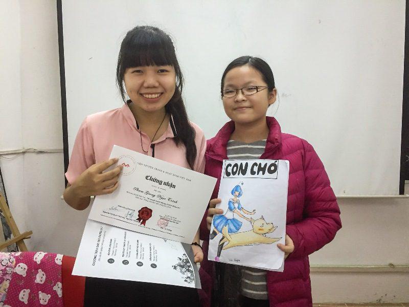 Bế giảng lớp dạy vẽ Manga Comics nâng cao 7 5