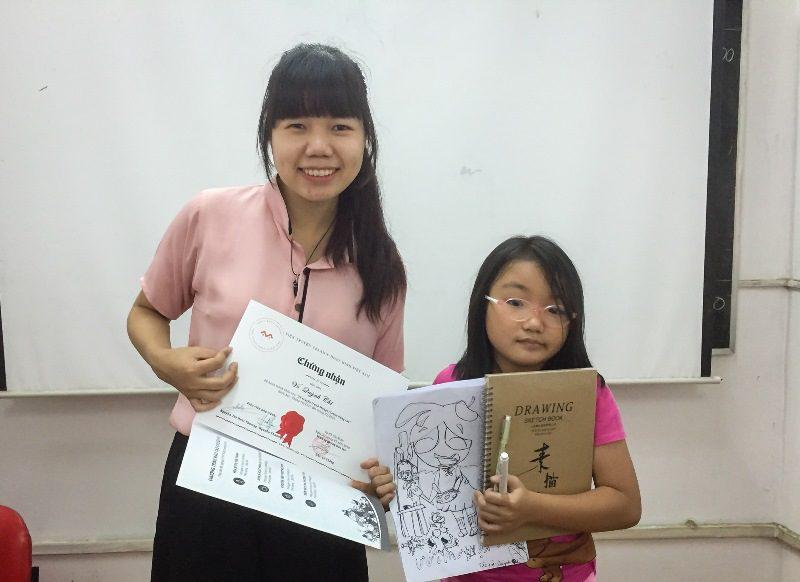 Bế giảng lớp dạy vẽ Manga Comics nâng cao 7 8