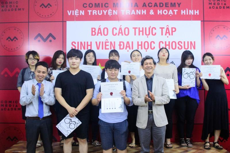 [Hình ảnh] Báo cáo thực tập của sinh viên Đại học Chosun, Hàn Quốc tại Comic Media Academy