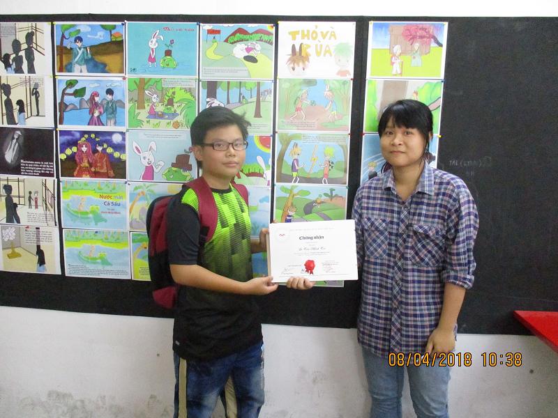 bế giảng lớp digital painting thiếu niên khóa 02