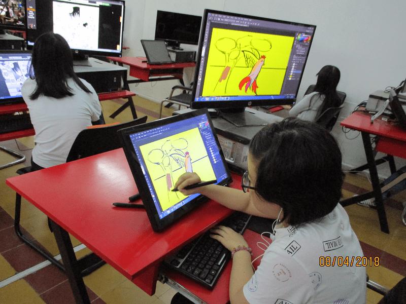 bế giảng lớp digital painting thiếu niên k2