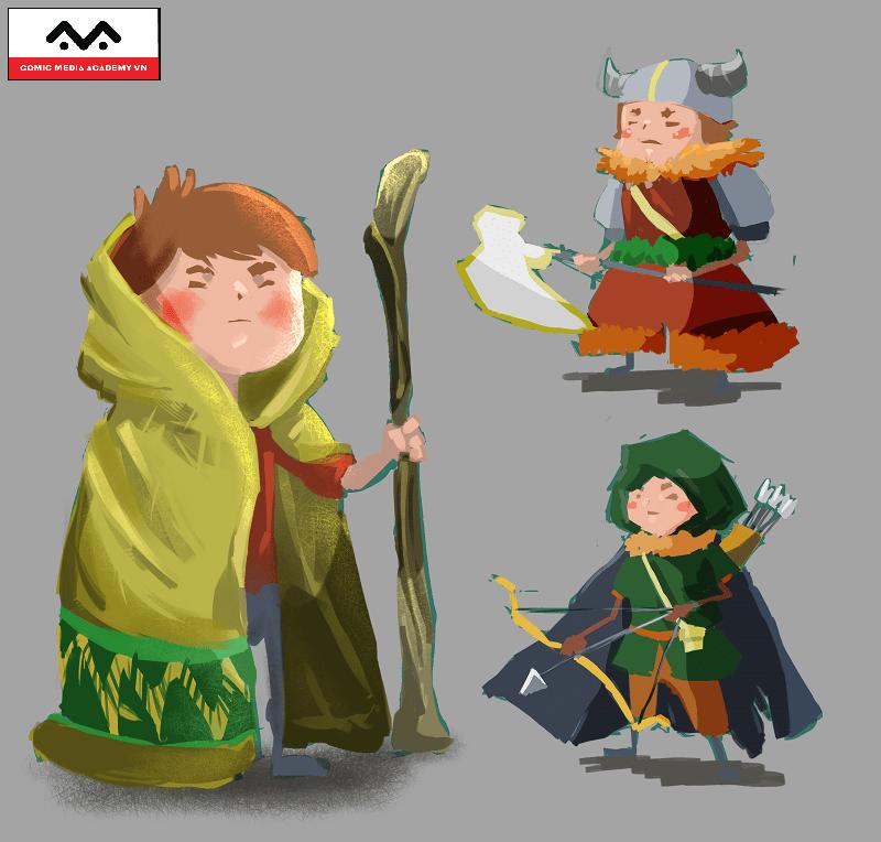 character design digital painting thiết kế nhân vật