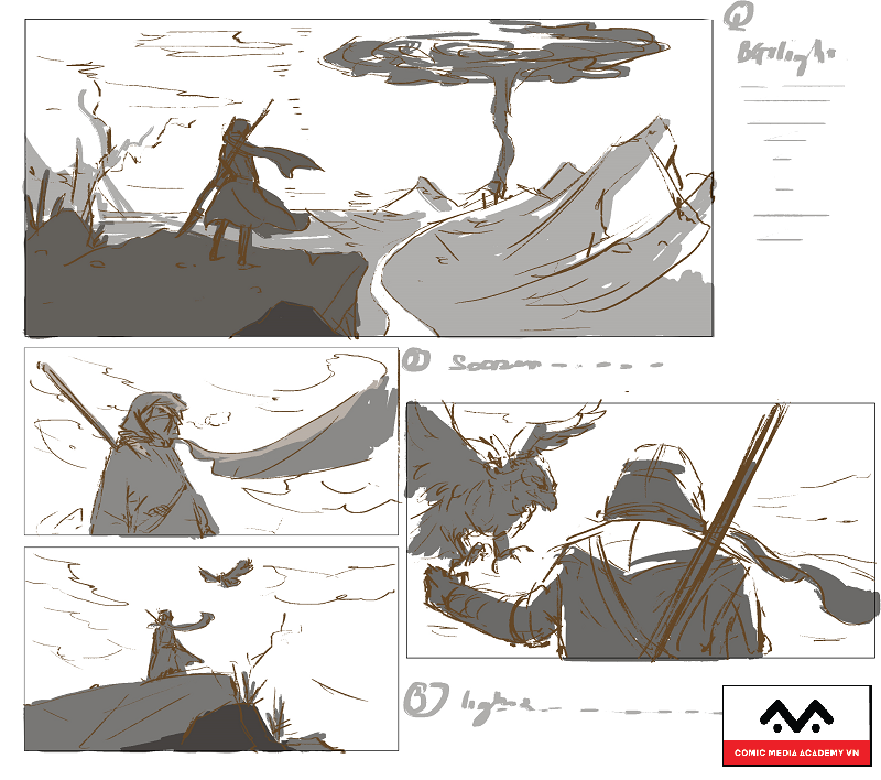 storyboard artist digital painting