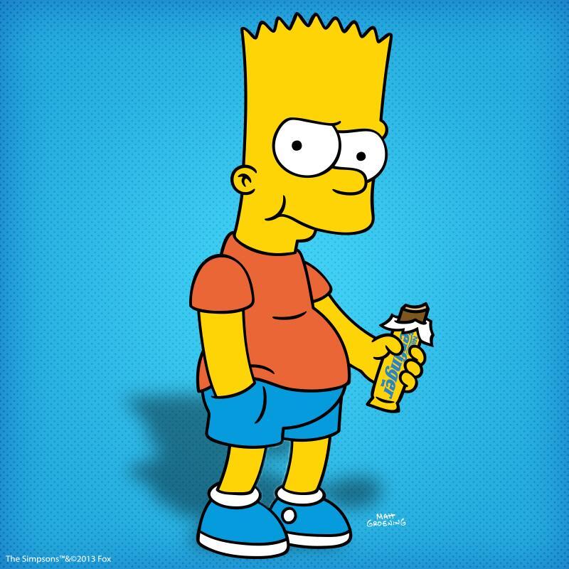 top 50 nhân vật hoạt hình Bart Simpsons