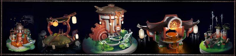 tổng hợp sản phẩm thiết kế đạo cụ phong cách Nhật Bản Artstation Challenge