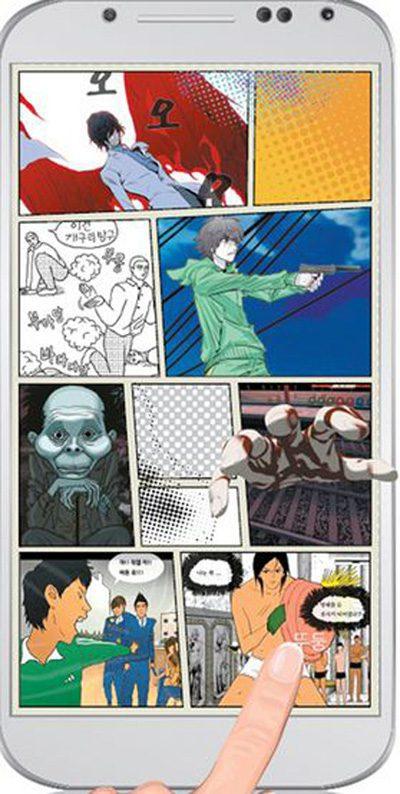 Webtoon với việc xuất bản trên thiết bị điện tử đã cho thấy ưu điểm về mặt màu sắc